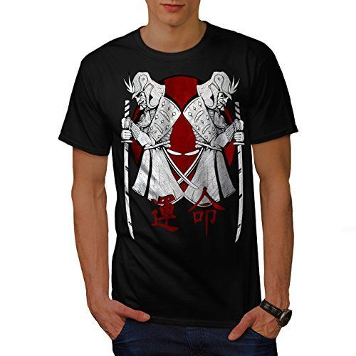 Japan Warrior Art Samurai Stand Men NEW L Tshirt  Wellcoda >>> Find out more about the great product at the image link.