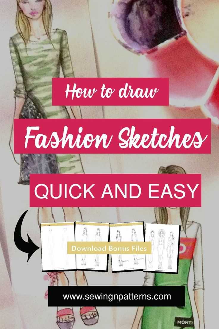 Tops fashion design sketches flat fashion sketch top 045 - How To Color Fashion Design Sketches Quick And Easy Tutorial