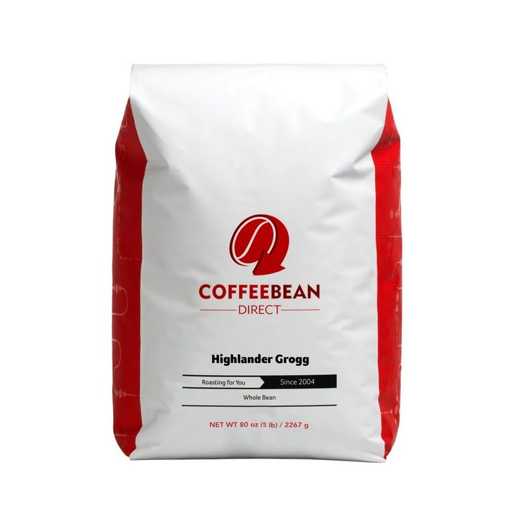 Coffee Bean Direct Highlander Grogg Flavored, Whole Bean Coffee, 5-Pound Bag ** Startling review available here  : Fresh Groceries