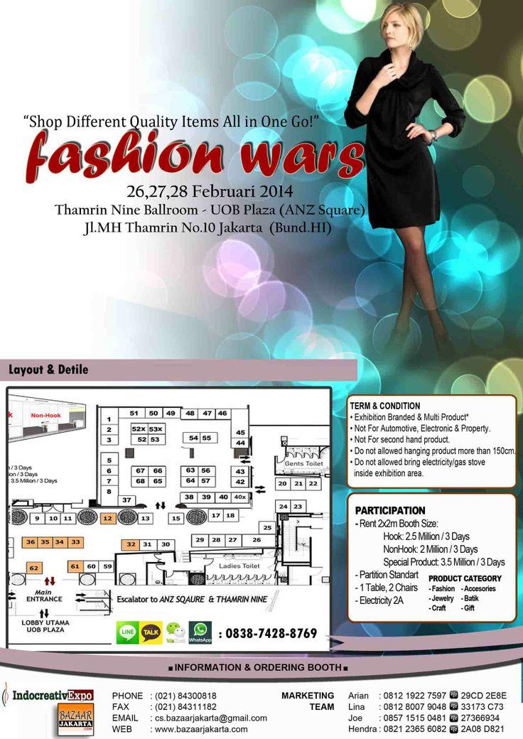 "JOIN & Book Ur Booth.!! at ""Fashion Wars"" @ Uob Plaza-HI, 26 - 28 Feb`14 info: 081219227597 - 2A7BBC3D"