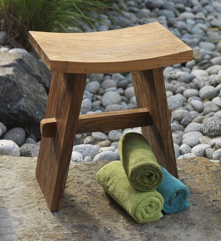image quarter bamboo bathroom stool editor favorite handmade teak bath stool created from sustainable teak by fair trade artisans