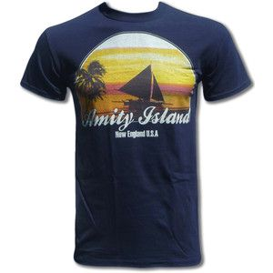 JAWS - Amity Island T Shirt (Steven Spielberg) - Graphic Tees For Men &