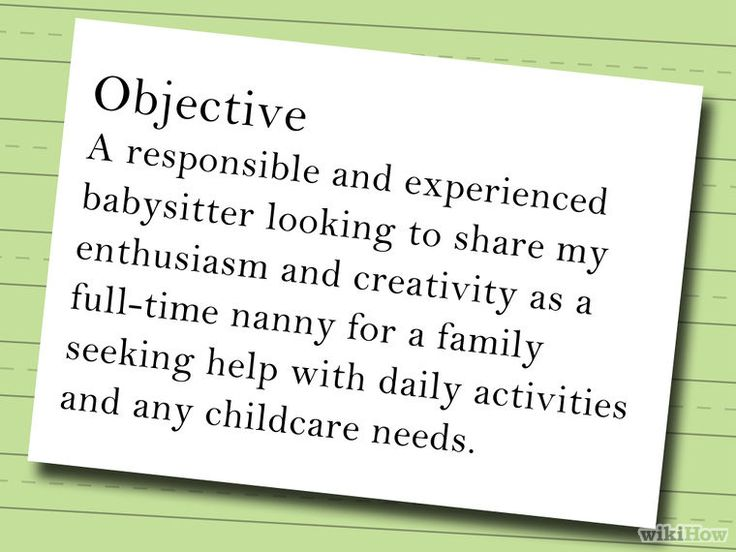 Write a Resume for a Nanny Job Step 2.jpg