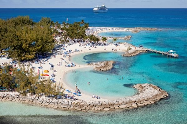Coco Cay Island, Bahamas owned by Royal Caribbean, the PRETTIEST PLACE I have been, it really does look like the picture!