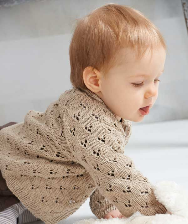 long-sleeved baby cardigan pattern