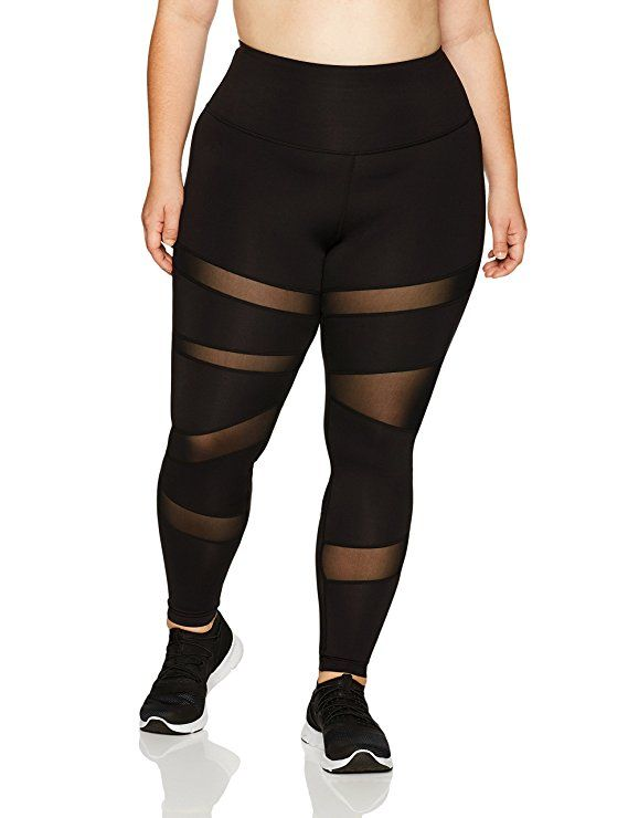 8c6c79744a Core 10 Women's Icon Series - The Warrior Mesh Plus Size Legging, Black,  2XL #afflink