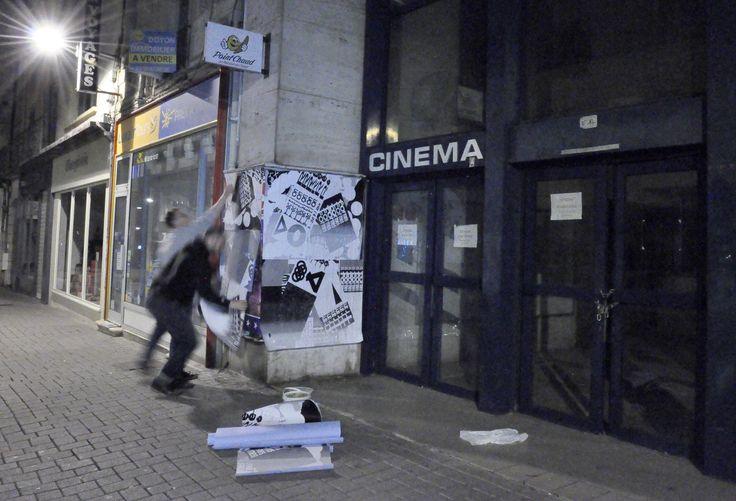 """Dispositif """"Pratiques"""" Rues du Chaumont 2015. Sérigraphie Lézard Graphique"""