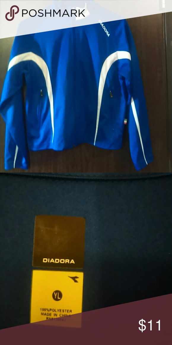 Youth jacket Blue and white zip up jacket diadora Jackets & Coats