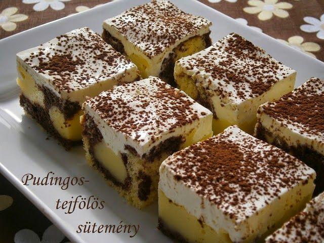 Receptek, hasznos cikkek és képek oldala!: Pudingos-tejfölös sütemény