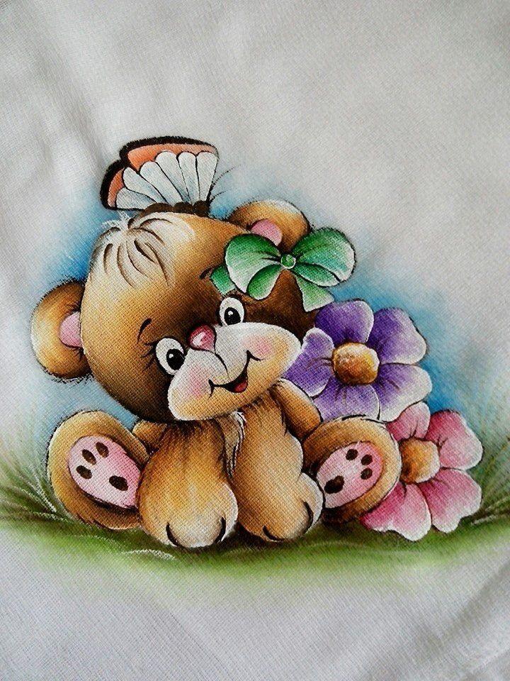 flores com ursinho - Pesquisa Google
