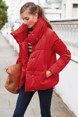 Red Short Duvet Jacket From Next Slovakia