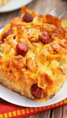 Little Smokie Croissant Breakfast Casserole