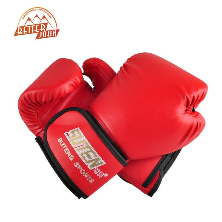 SUTEN brand PU leather sport training equipment Boxing Gloves Kick boxing MMA Training Fighting Sandbag Gloves Sanda mittens