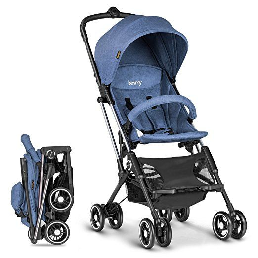 Amazon.com : Besrey Airplane Stroller One Step Design for Opening & Folding Lightweight Baby Stroller for Infant Convertible Baby Carriage - Gray : Baby