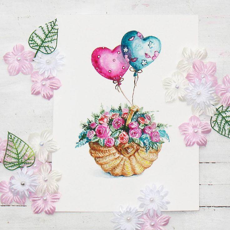 Открытки с днем рождения нарисовать акварелью