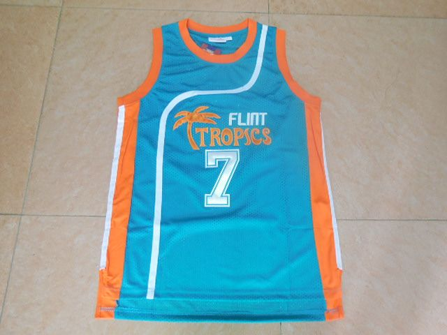 NBA FLINT TROPICS 7 GREEN WHITE MESH ANTHONY WEST BROOK BASKET JERSEY  $58