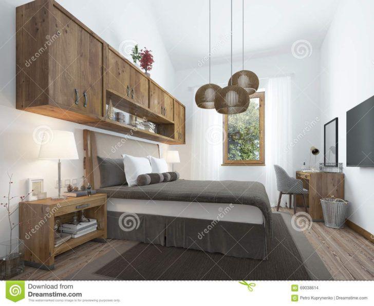 Interior Design Meuble Chambre Chambre A Coucher Style Du Grenier Avec Les Meubles En Bois Et Meuble Murs Loft Style Bedroom Loft Style Furniture