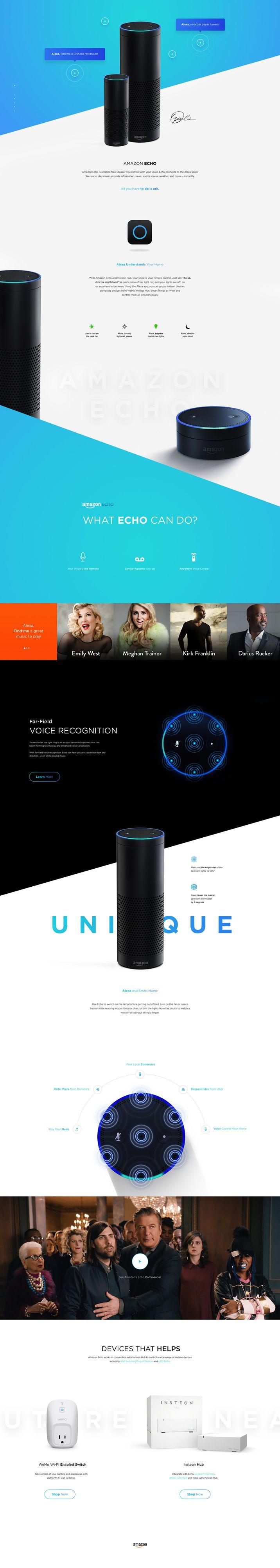 Amazon Echo. Concept for unique product by Amazon by Vitali Zahharov. Art-Director & Designer from Estonia.
