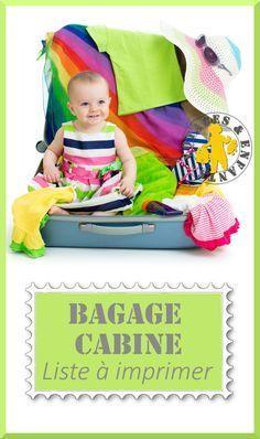Liste bagage à main pour la famille à imprimer - GRATUIT!