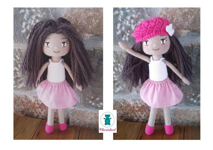 Beautifull doll made from all natural fibers and cotton fabric....