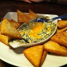 Kelsey's Four Cheese Spinach Dip. I've made this, taste just like kelseys!!