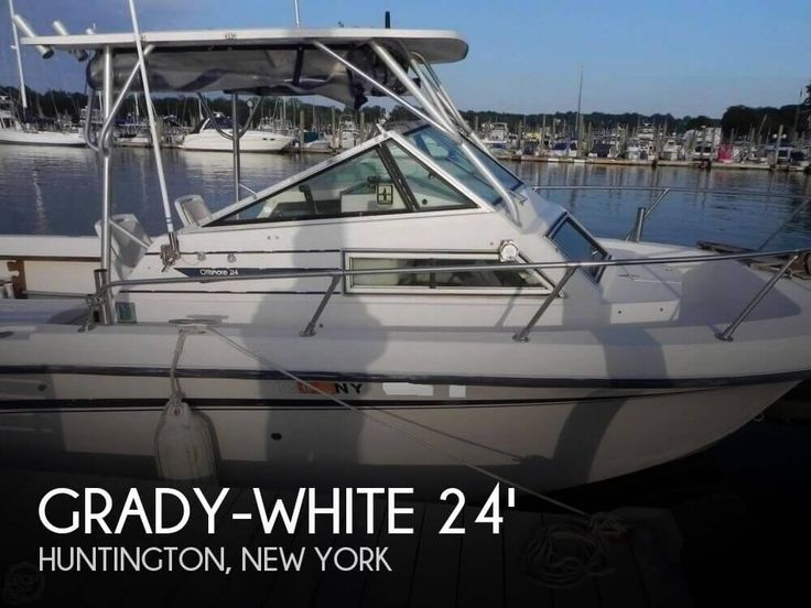 Pre-owned 1986 Grady-White 24 Offshore cuddy cabin boat (200 hrs) for sale in Huntington, New York - $7,500.  View 87 photos, features and a good description.