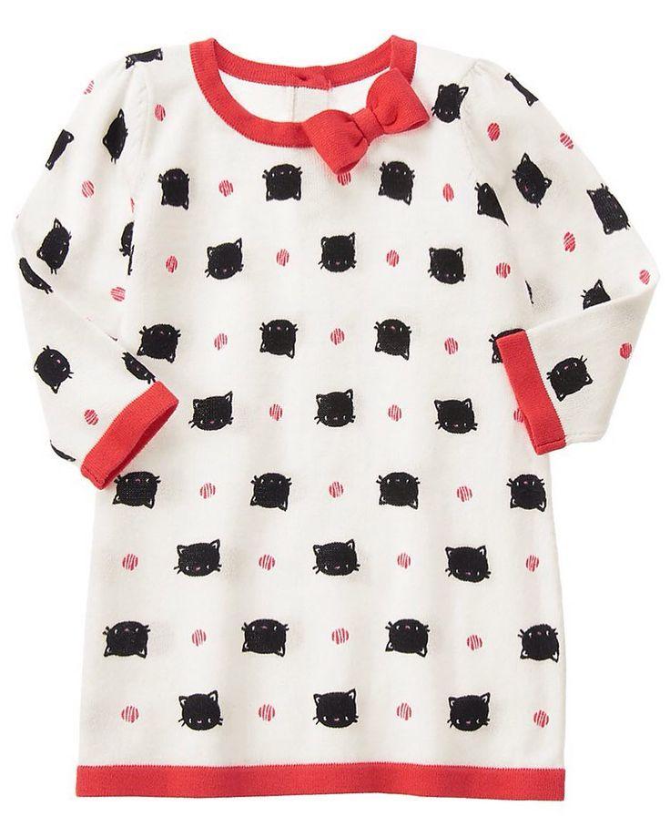Gymboree Fancy Cat Triko Elbise 104.90 TL 18-24 ay  %100 Pamuk  Sevimli kedicik işlemeli yaka kısmında kurdela detayı bulunan sırt kısmı düğmeli kol yaka ve etek ucu kırmızı şeritli triko elbise  Gymboree USA #elbise #bebekelbise# kızbebekelbise #trikoelbise #fancycat #kurdela #sevimlikedicik #şık #gymboree #markabebe #kapıdaödeme #taksitliödeme