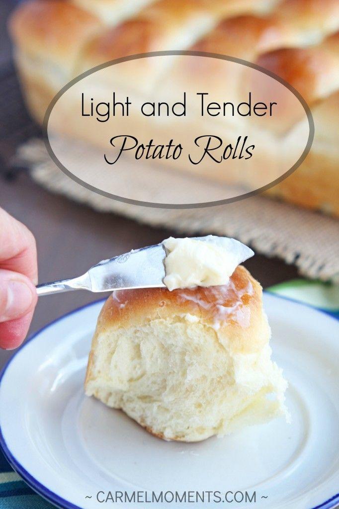 Light and Tender Potato Dinner Rolls  Carmel Moments