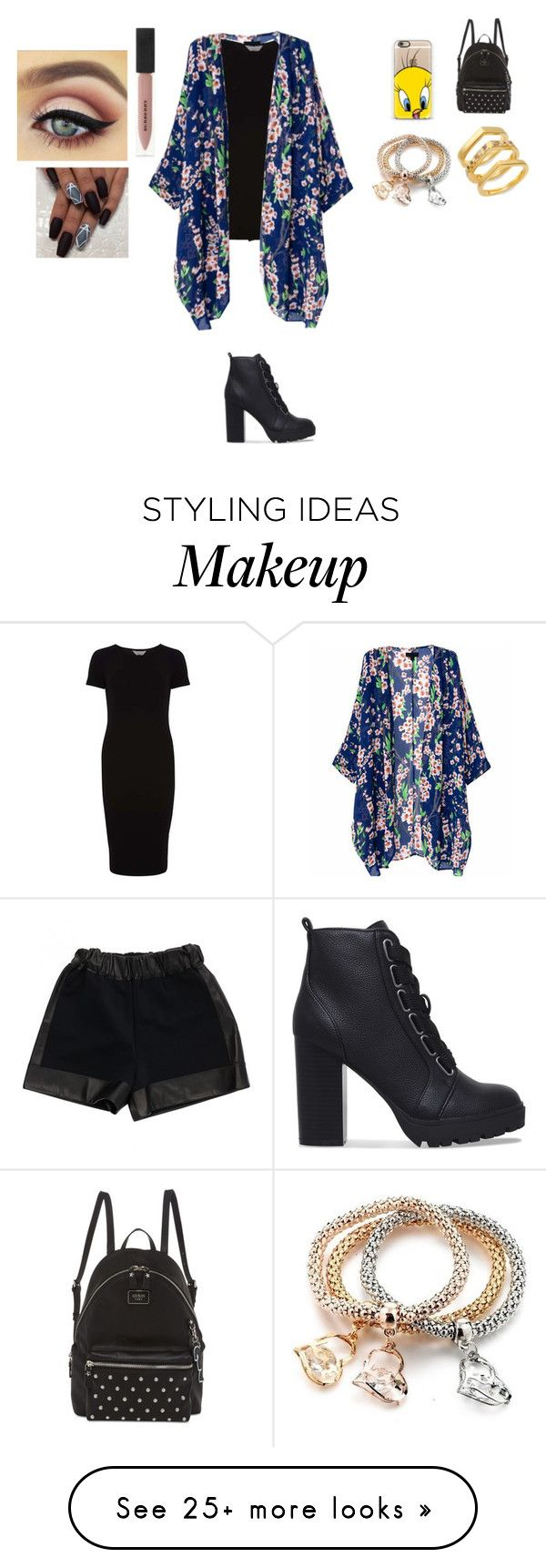 """Floral"" by mayylovesnobody on Polyvore featuring Casetify, GUESS, Givenchy, Dorothy Perkins, Burberry and Elizabeth and James"