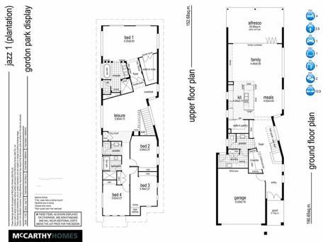 Aussie house-plan double storey narrow lot.