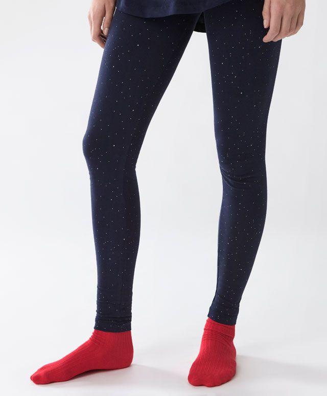 Pantalon moon&stars - Bas - Dernières tendances Automne Hiver 2016 en mode femme chez OYSHO online : lingerie, vêtements de sport, pyjamas, bain, maillots de bain, bodies, robe de chambre, accessoires et chaussures.
