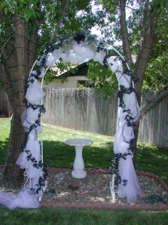 Wedding arches wedding arch for a backyard wedding for Archway decoration ideas