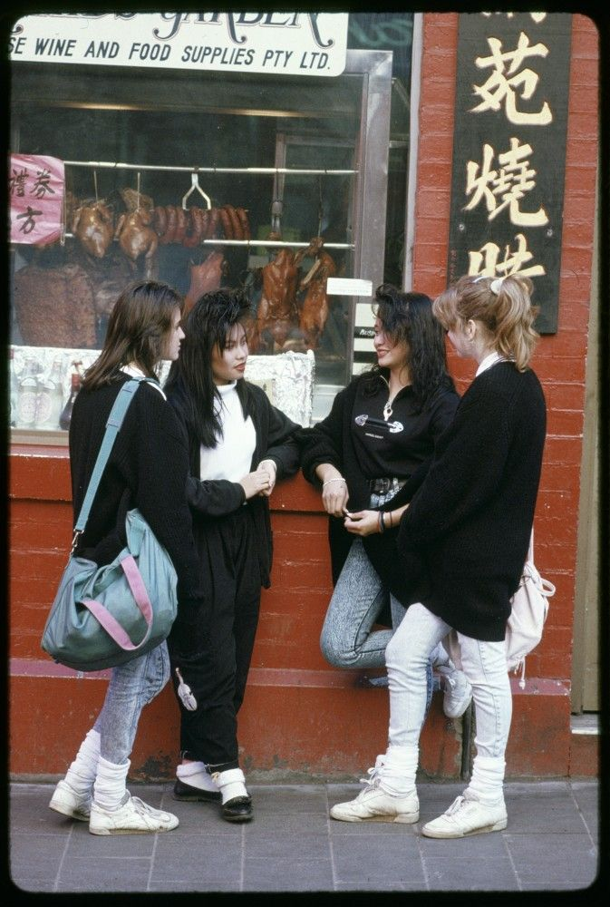 Teenagers  in Chinatown, Melbourne 1989