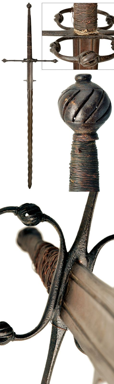 "Mandoble tipo ""flamberge"" - Alemania - Siglo XVI"