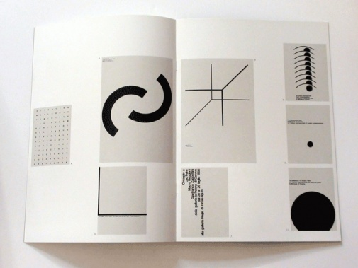 A. G. Fronzoni | Italian designer, 1923-2002 | spread from his exhibition catalogue 'manifesto/trentanove poster di A G Fronzoni', 1992