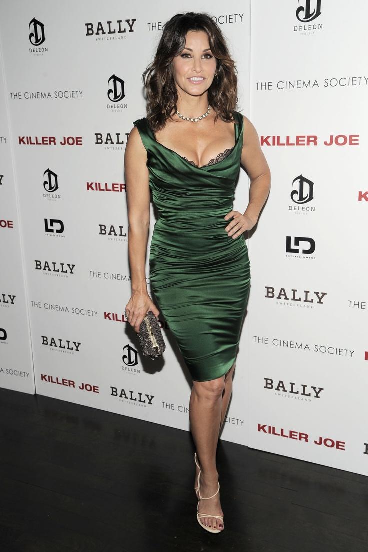 #GinaGershon Gina Gershon, wearing #Bally Stredas sandals and a Bally Ponga bag during Monday's Cinema Society screening of Killer Joe in NYC