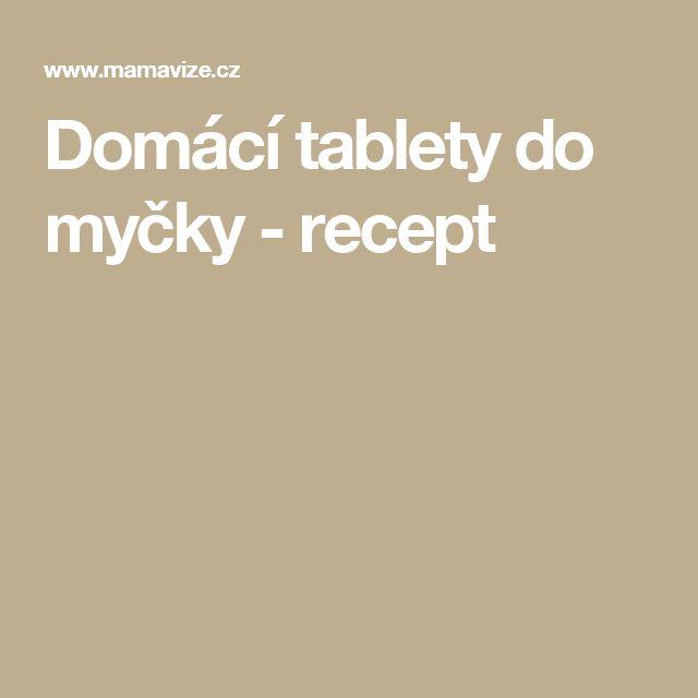 Domácí tablety do myčky - recept