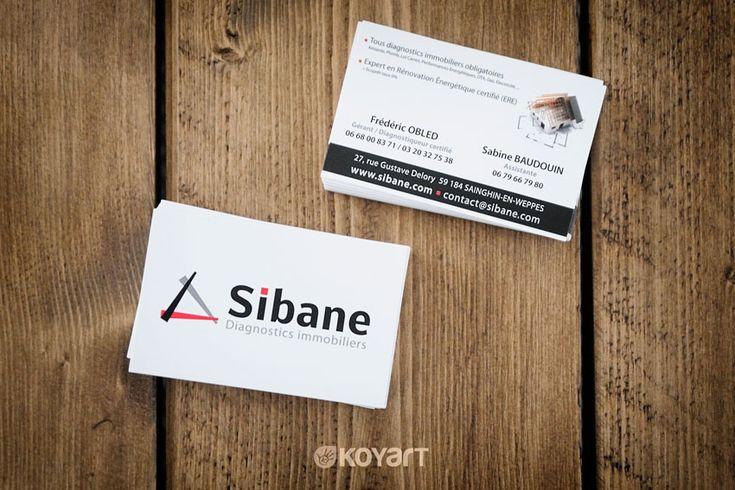 Création carte de visite diagnostics immobiliers Sibane à Sainghin-en-Weppes (59)