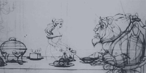 Beauty & the Beast pencil test #gif