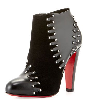 Volvotico Red Sole Bootie, Black by Christian Louboutin at Bergdorf Goodman.