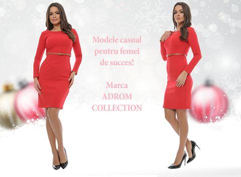 Un model de rochie casual, se regăsește în stocul Adrom Collection. <3 Confecționată din 95%bumbac, este dublată cu încă un strat de bumbac, perfectă pentru perioada de iarnă <3 Croiul este pe corp, mânecile sunt lungi, iar în talie prezintă o curea pentru a evidenția foarte frumos silueta feminină.      Pentru comenzi online:  👉http://www.adromcollection.ro/rochii/408-rochie-angro-r554.html