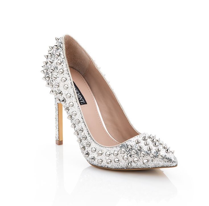 fierce! Silver studded pumps