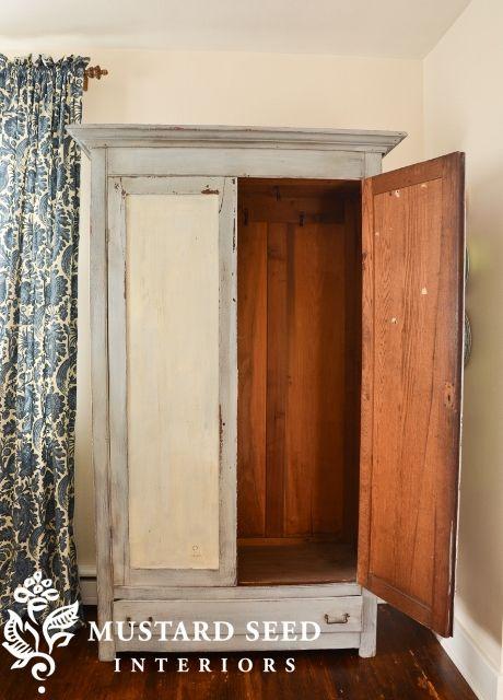 http://missmustardseed.com/2012/10/milk-painted-wardrobe-reveal/#