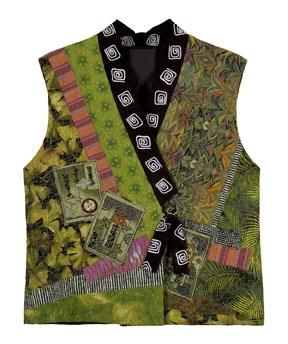 A kimono collage vest that looks quite interesting. http://christinebarnes.com/books.html
