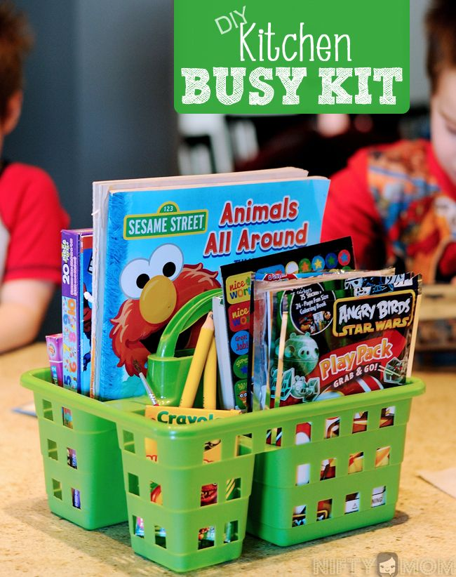 DIY Kitchen Busy Kit for Little Ones using Dollar Store Supplies