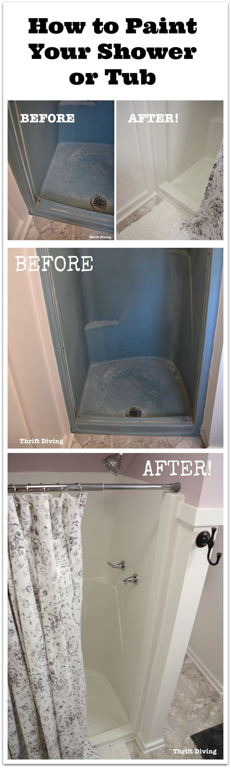 Cast iron tub refinishing milwaukee 300x186 cast iron tub refinishing - Diy Shower And Tub Refinishing How To Paint An Old Shower Thrift Diving