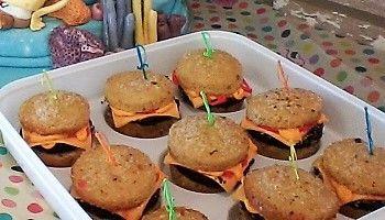Spongebob 'Hamburger ' cupcakes fête de Nathan de 8 ans