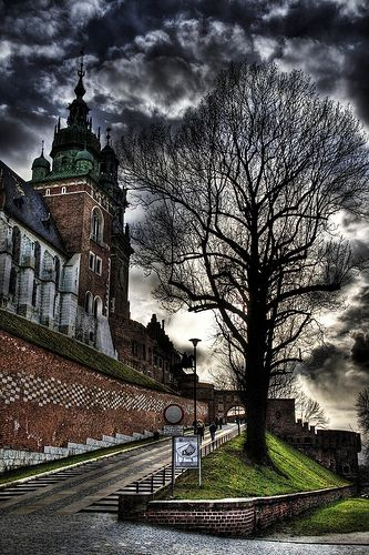 Krakow, Poland. The entry to Wawel castle's cathedral