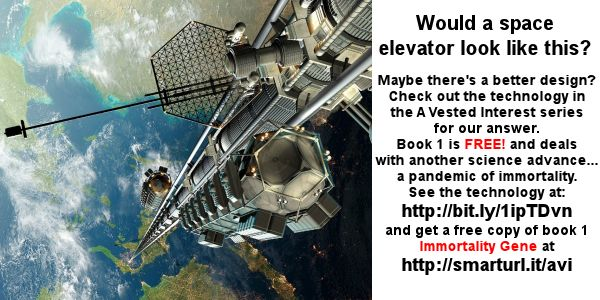 There's a book in development which features a space elevator. It's not finished but you can read about it and see our alternative design at  http://www.avestedinterest.info/technology.htm#spaceelevator