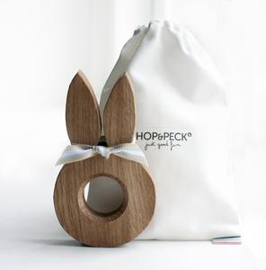 oak bunny ears egg cup | HOP & PECK